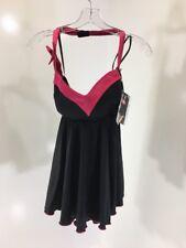 COQUETTE WOMEN'S HALTER STRAP BABYDOLL BLACK/FUCHSIA XL NWT