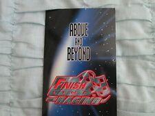 1996 Finish Line NASCAR Ad Brochure with 4 Uncut Promo Cards w/Gordon & Martin +