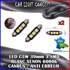 2 x ampoule Plafonnier Feu 39 mm navette LED C5W BLANC XENON 6000k voiture auto