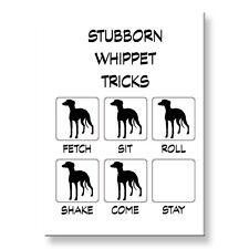 Whippet Stubborn Tricks Fridge Magnet Steel Case Funny