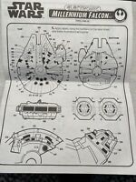 Kenner star wars Manual Only For Labels electronic millennium falcon 1995