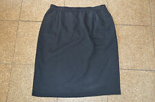 Valentino Boutique Black Wool Side Zip Skirt Womens Size UK 14 / EU 44