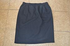 Valentino Boutique Black Wool Side Zip Skirt Womens Size UK 14 / EU 44