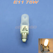 5×Halogen Mini Candelabra E11 Base 120V 75W JD Frosted Stage & Studio Light Bulb