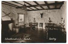 Dining Room Photo Strathendrick Hotel Fintry Stirling Scotland UK Postcard RPPC