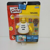 Playmates The Simpsons COMIC BOOK GUY Figure WOS Series 15 RARE Worst Episode