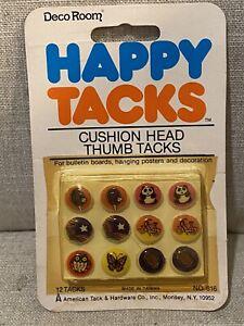 Vintage Deco Room Happy Tacks Cushion Head Thumb Tacks