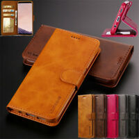 Luxury Holster Leather Purse Wallet Case Stand TPU Cover For iPhone X XS Samsung
