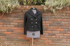 New York Classics part wool pea coat black XS extrasmall womens
