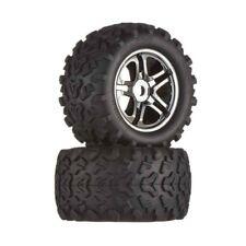 Traxxas E Maxx 4983A Tire/Wheels Black Chrome Maxx 17mm (2)
