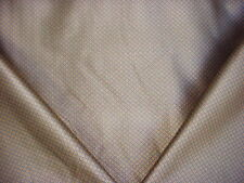 13+Y SCHUMACHER DUSTY BLUE / GOLD WOVEN LINEN DIAMOND UPHOLSTERY FABRIC