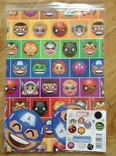 New Marvel Birthday Wrapping Paper (2 sheets 2 tags)