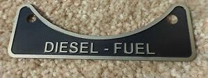 Diesel Fuel Filler Cap Neck Warning Metal Badge 502951 Land Rover Series 2 2a 3