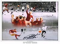 GEOFF HURST HAND SIGNED 1966 ENGLAND WORLD CUP PHOTO AUTOGRAPH WEST HAM  2