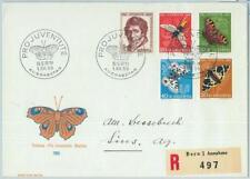66928 - SWITZERLAND - Postal History - FDC COVER Pro Juventute 1955 butterflies