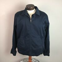 Polo Ralph Lauren Golf Jacket  size L Blue Full Zip Bi Swing  Coat Men's