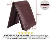 Hornbull Men's Brown Stella Genuine Grain Leather RFID Secure Blocking Wallet