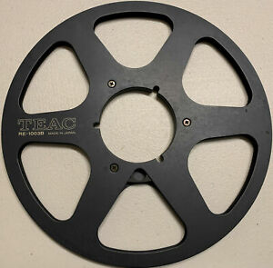"TEAC 10"" Metal Reel, Six Window Black, New Box + Bag"