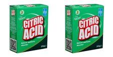 2 Acide Citrique 250 g Naturel Nettoyant Cuisine Appareils anticalcaire Remover ...