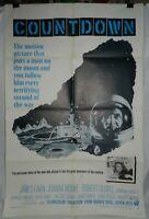 Vintage 1 sheet movie poster for Countdown, 1968, James Caan, Joanna Moore