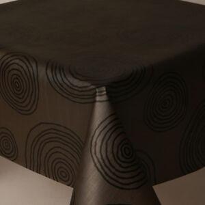 Plain Black Swirl Prints Silver Shine Pvc Vinyl Table Cloth Wipe Clean Retro