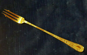 """Victorian Silver Pickle Fork with 3-Tines - Size 18.5cm (7 1/4"""") Long."""