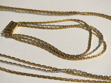 Avon Multi-Strand Silver Gold Anchor Link Necklace & Bracelet Set