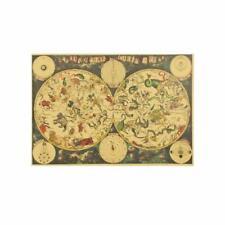 Ancient Zodiac Constellation Map Kraft Paper Poster