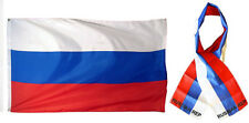 "Wholesale Combo Set Russian Russia Country 3x5 3'x5' Flag and 8""x60"" Scarf"