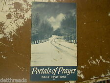 VINTAGE DEVOTIONAL BOOK - 1949 - Portals of Prayer No. 88 - Daily Devotions
