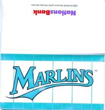 FLORIDA MARLINS CHECKBOOK COVER 1995 ISSUE
