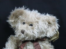 New Russ Berrie Bears From The Past Shaggy Brown Polkadot Bowtie Radcliffe Plush