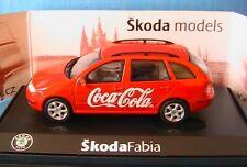 SKODA FABIA 1.4 16V PHASE 1 COMBI ESTATE COCA COLA ABREX AB004XH 1/43 SW