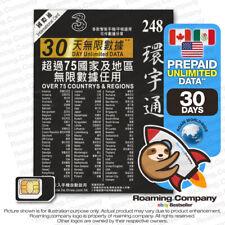 🚀 North America 30Day Unlimited Data Prepaid Travel Sim Roaming Hotspot 3Gb4G