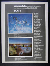 1982 Salvador Dali Unicorn & 4th Dimension lithographs Mondile vintage print Ad