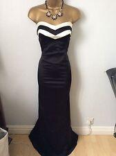 Coast Full Length Wiggle Fishtail Dress Size 12 Vgc