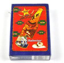 Budweiser Bier Spielkarten Karten USA Kartenspiel - Motiv Flasche blauer Rand