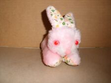 Vintage Creative Creation Inc 6'' Plush Pink And Floral Bunny Rabbit