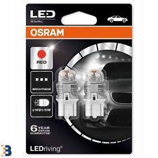 OSRAM W21/5W 580 T20 12V LED Red Brake Exterior Bulbs 7915R-02B Double Blister