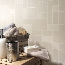 Beige Glitter Tile Wallpaper Kitchen and Bathroom Tiling on a Roll 89242