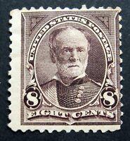 Sc # 272 ~ 8 cent Sherman, Unused, Disturbed Gum, Hinge Remnant