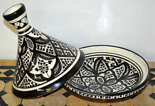 Moroccan Tagine Tajine Tangine Pot Ceramic Serving Cookware Dish Clay Medium New