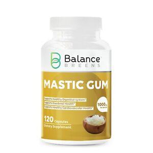 Balance Breens Mastic Gum 1000 mg per serving Supports Digestive Health 120 Caps