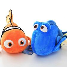 2 Finding Nemo Dory Soft Doll Stuffed Plush Toy Figures Clown Fish Teddy 10''