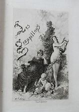 1879 Les Grappillons Contes Fables Bourguignon Salé Lalauze Petit tirage Auxerre