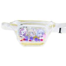 Womens Transparent Clear Handbags Lolita Fanny Pack Ita Crossbody Cosplay Bag