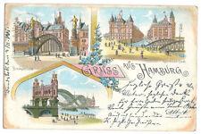 """Alte AK Postkarte Deutschland   Hamburg """"Gruss aus Hamburg"""" 1901 mit Briefmarke"""