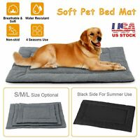 Large Pet Dog Cat Bed Fleece Puppy Cushion Pad Mat Water Resistant Comfortable