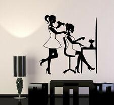 Vinyl Wall Decal Barber Girl Beauty Salon Hair Woman Stylist Art Stickers (g276)