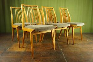 50s Vintage 6x Dining Room Chair Rockabilly Sprossenstuhl Kitchen Retro 50er